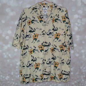 Guy Harvey AFTCO Bluewater Hawaiian Men's XL Shirt